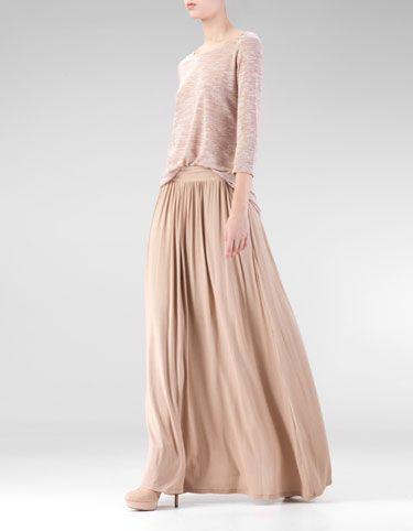 Stradivarius maxi - skirt