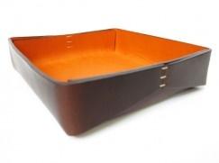 Leather tray by Oscar Maschera