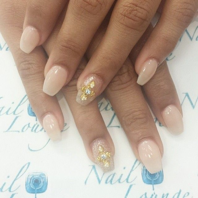 natural colored nails, I am loving coffined shape.. started doing mine that way..love it!! Short coffin nails