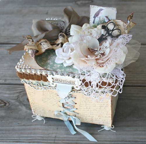 A gorgeous altered box by Miranda using A Ladies' Diary! A true treasure #graphic45 #alteredart