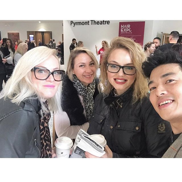 Team Perth Central arriving at @hairexpo on Sunday morning ready to suck in all inspiring knowledge to bring back to the salon✔️✔️✔️ #NeverStopLearning #MyToniAndGuy #ToniAndGuy #HairExpo