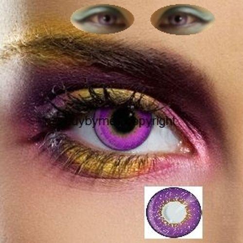 82501 lentille de couleur violet neuf lens color purple contact violette lila