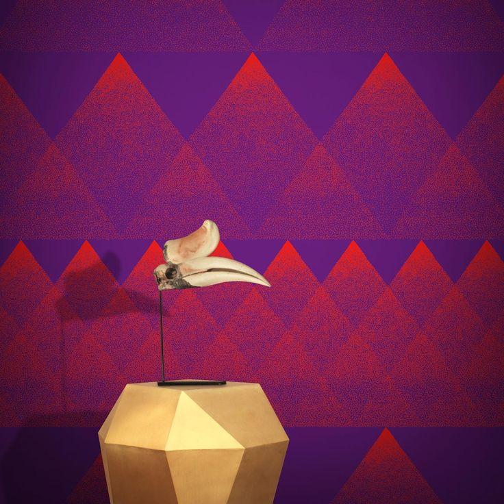 Feathr BAI Wallpaper Fiery Violet by Tong Ren | 011000690301 | £119.00