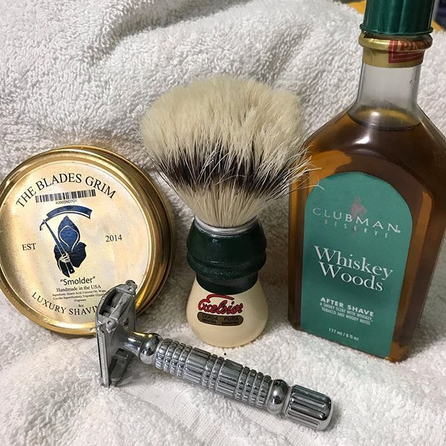 Shave Of The Day The Blades Grim Shave Soap Semogue 1305 Boar Hair Brush Bigfoot Shaves Double Edge Razor W Derby Ex Shaving Soap Boar Hair Brush Shaving