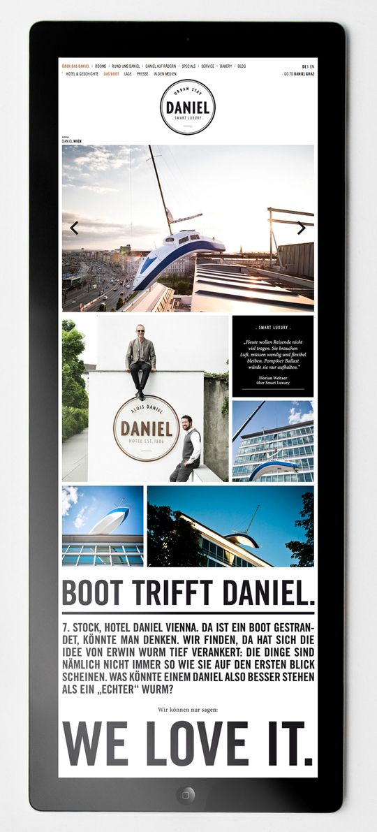 Hotel Daniel - Web Design by moodley brand identity , via Behance