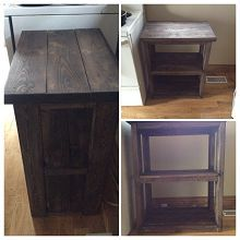 Rustic Microwave Stand or General Purpose Stand. With DIY instructions from VinceBierworth.com