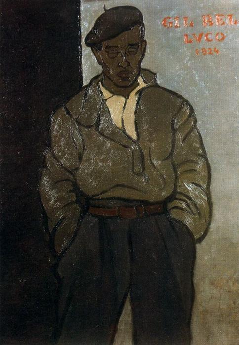 """""""Portrait of Gil Bel"""" by Rafael Barradas (1890-1929, Uruguay)"""