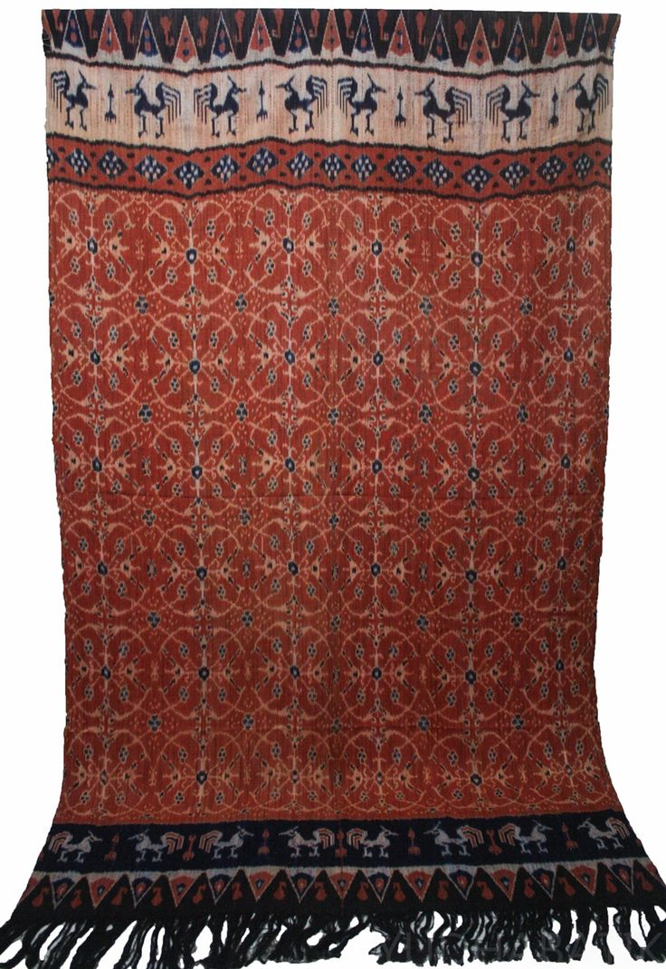Hinggi Sumba  in 'patola' pattern. Patola pattern probably being one of the most…