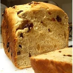 You will give thanks to your bread machine for this one, a gently sweetened, cream-rich yeast bread with rum-plumped raisins scattered throughout.