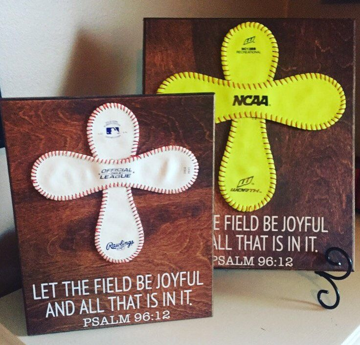 Baseball Cross Wall Art,Softball Cross Psalm 96:12, baseball scripture, softball, soccer cross by CraftSmithsHomemade on Etsy https://www.etsy.com/listing/489512252/baseball-cross-wall-artsoftball-cross