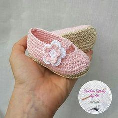 "Rosa ganchillo Ballet pisos ca | ""Pink crochet Ballet flats shoes and baby shoes, slippers, ecru months"""