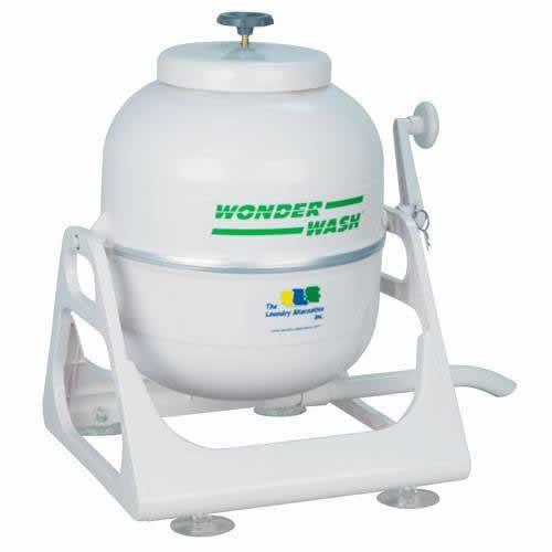 Laundry Alternative Wonderwash Portable Hand Crank Mini Washing Machine Video Image