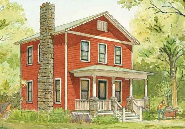 Hanover cottage cottage living southern living house for Southern craftsman house plans