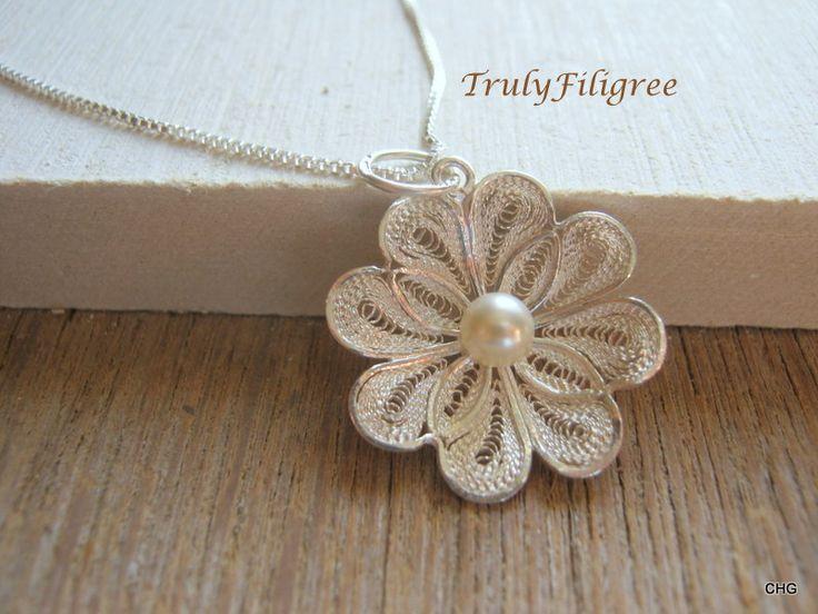 Handmade Silver Filigree Pendant, Handmade Jewelry,Silver Pendant,Filigree Pendant