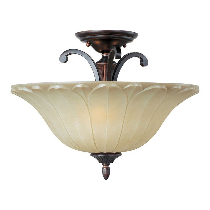 Shop Maxim Lighting  13501WSOI 3 Light Allentown Semi Flush Ceiling Light, Oil Rubbed Bronze at The Mine. Browse our semi flush ceiling lights, all with free shipping and best price guaranteed.