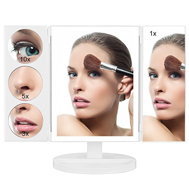 Butyface Lighted Makeup Mirror With 1x 3x 5x 10x Magnification