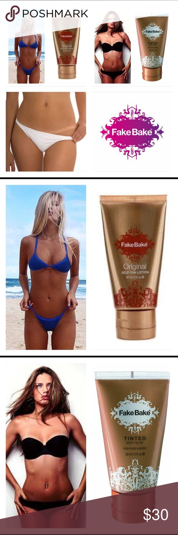 Fake Bake Original Lotion & Tinted Glow Set Includes Original Self-Tanning Lotion & Tinted Glow Contains a unique blend of iols and natural ingredients Get a perfect tan with Fake Bakes richness in color No damaging side effects of the sun Easy goof-proof application Ultimate in self-tanning lotions Get an all-over sunless glow with Fake Bake Tinted Body Glow This tinted, bronze, lightweight moisturizer instantly soaks into the skin Now you can enjoy an instant bronze without the permanence…