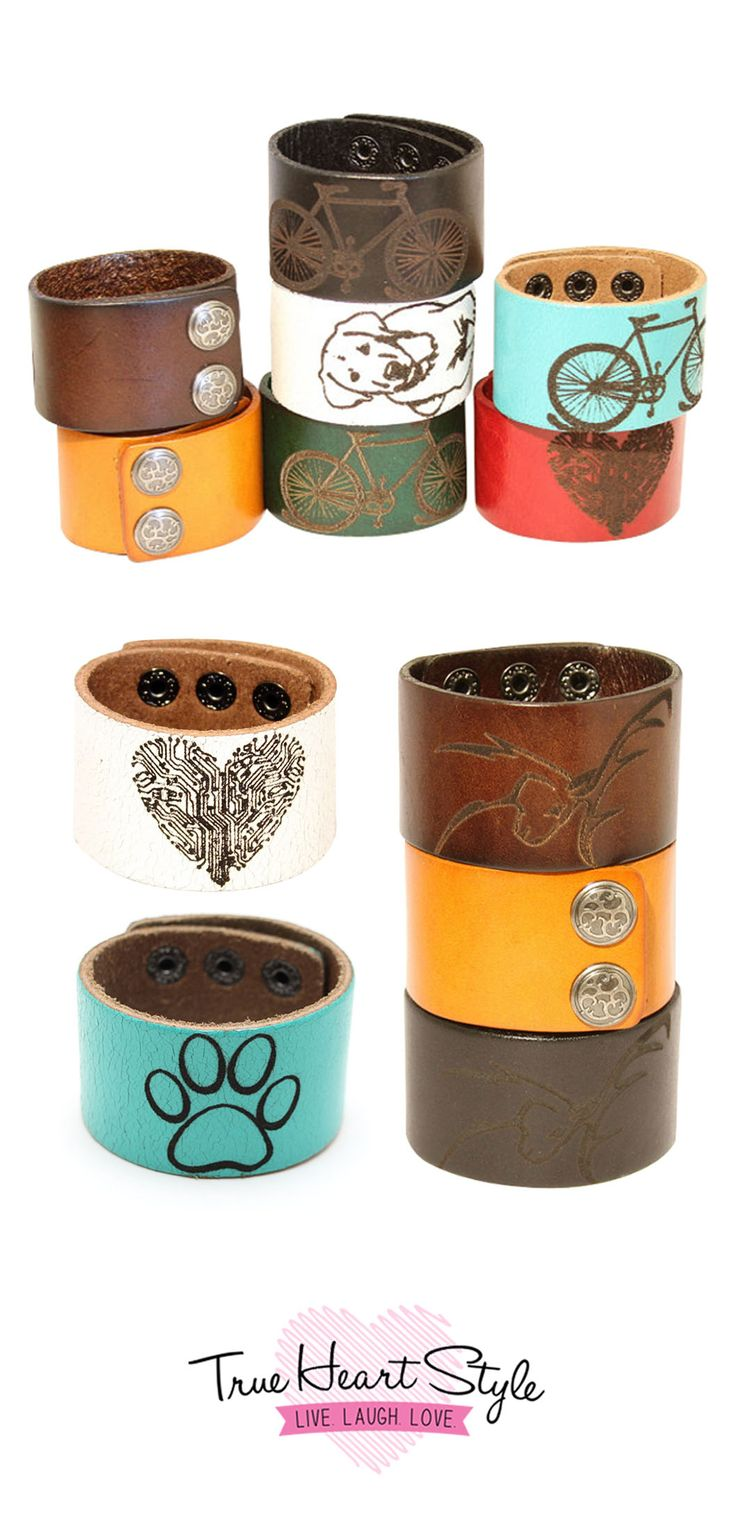 """Best Seller - Personalized Wide Leather Cuff Bracelet, Engraved with Your Custom Message, 1.5"""" Wide. Snap Closure #wedding #bride #souvenir #groom #heart #gift"""