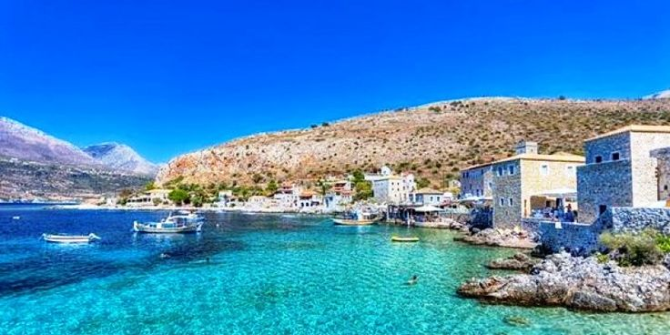 The coastal village of Gerolimenas in Laconia, Peloponnese.