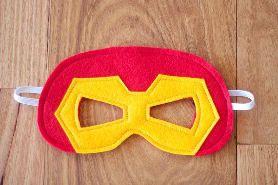 Iron Man Mask Felt Superhero Mask by Stitchandwillow on Etsy