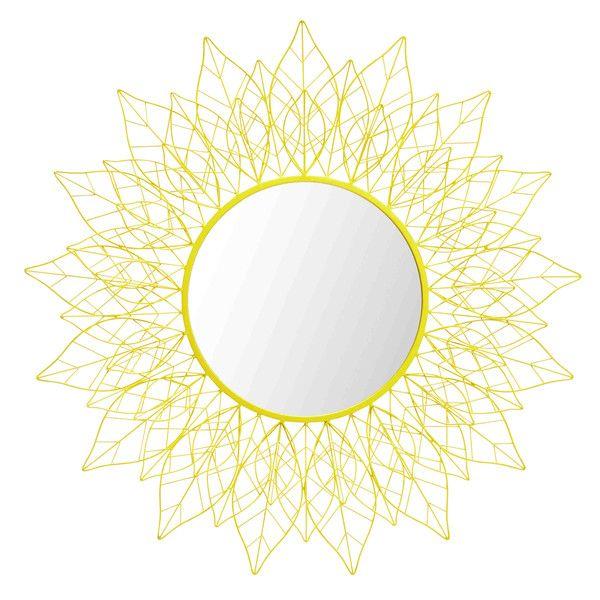 Specchio giallo in metallo D 95 cm ...