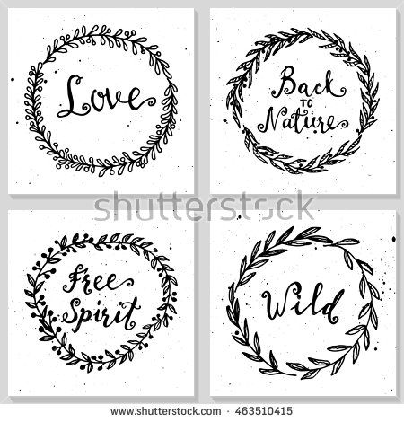 Wild and free, Love, Back to nature, Free spirit t-shirt or tattoo templates…