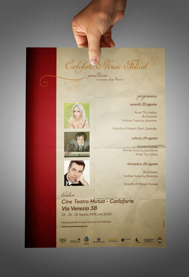 Poster & promocard  Carloforte Music Festival 2013