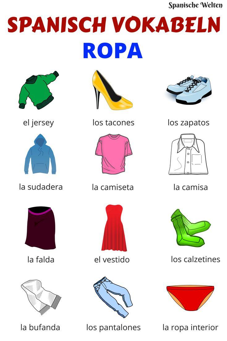 Spanisch Vokabeln: Mode