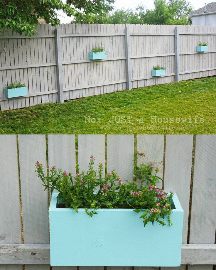 Planter Boxes on the Fence! - Not JUST A Housewife