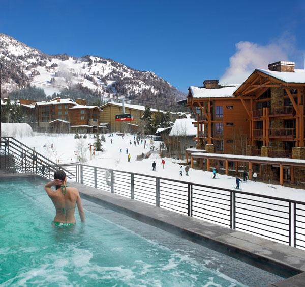 Hotel Terra hot tub in Jackson Hole... @ brit. Oh my gosh. Best spa. Best Christmas. Best hottub. Tonight. Soo fun!! 12-23-13.