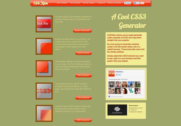 CSS3 Box Shadow Generator