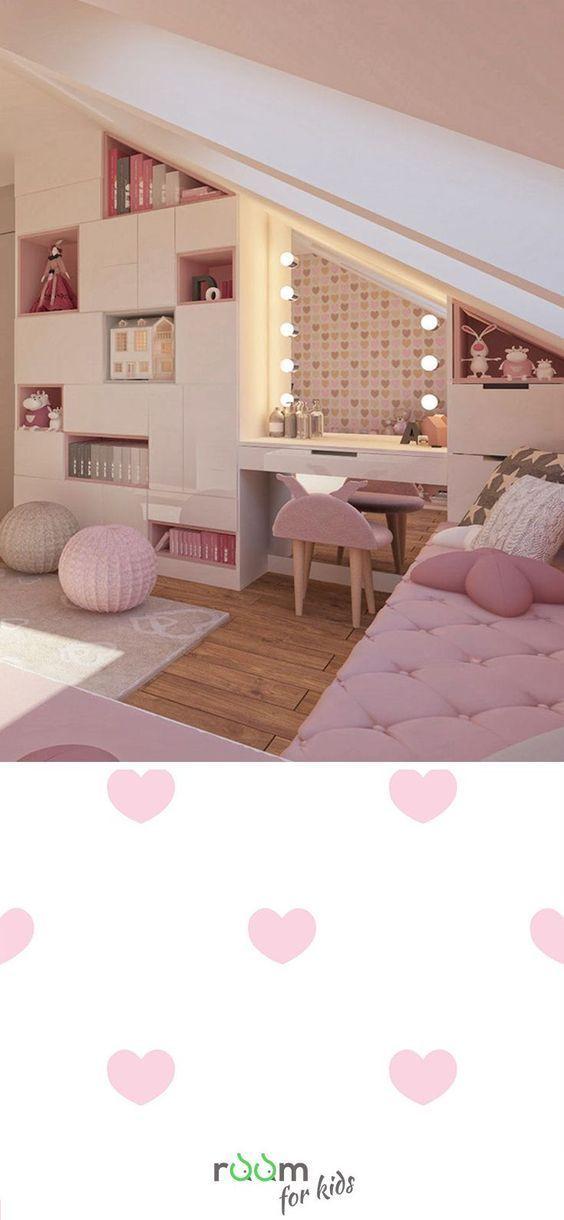 Gestaltungsidee für ein Mädchenzimmer im rosa Design / Dekopub