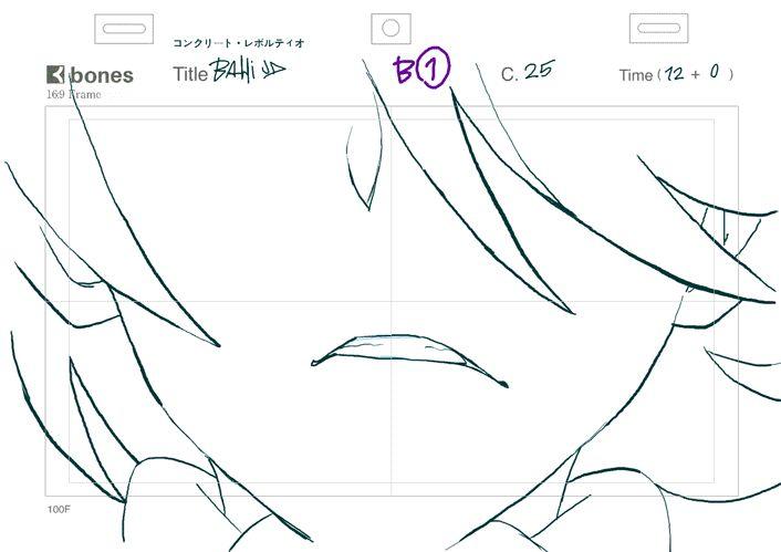 key-animation:『Concrete Revolutio』OP『コンクリート・レボルティオ』OPの原画- BahiJD