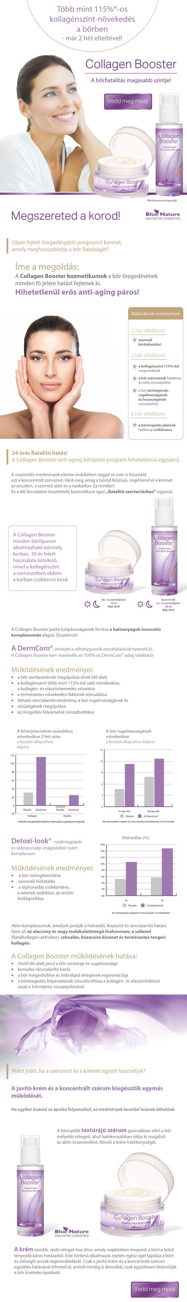 Collagen Booster fiatalító program: 24 órás öregedésgátló..