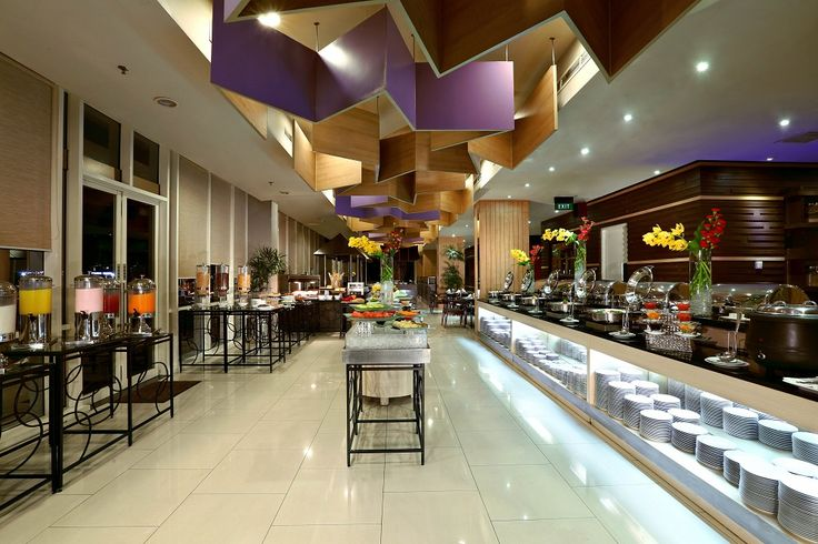 Mezzanine Restaurant - Mezzanine floor - buffet breakfast set up - Atria Hotel Gading Serpong