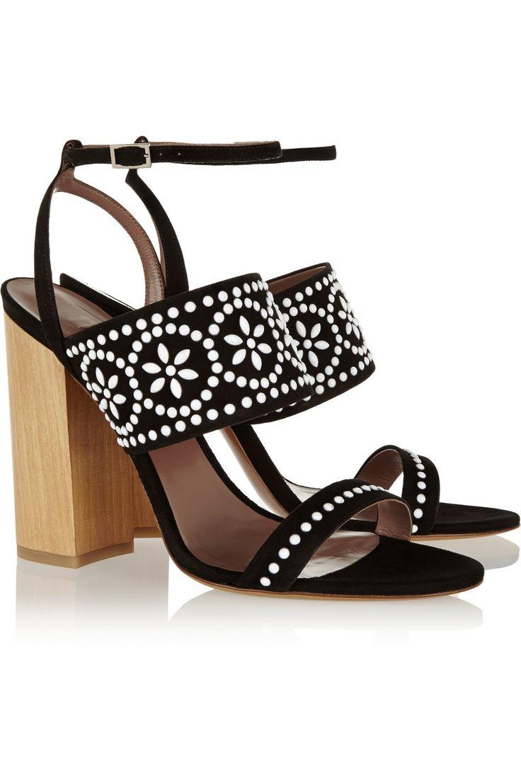 Tabitha Simmons | Blaze embellished suede sandals | NET-A-PORTER.COM