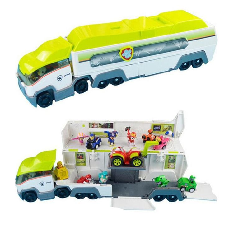 Dog patrol jungle super bus parking lot with team leader Ryder Anime Action Figures Vehicle Model Patrulla Canina Juguetes Gift