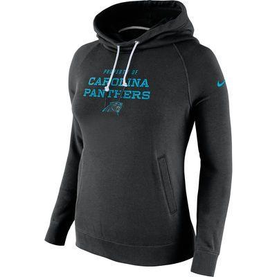 Size L Carolina Panthers Nike Women's Stadium Rally Funnel Pullover Hoodie - Black
