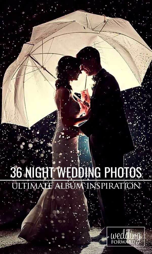 36 Incredible Night Wedding Photos That Are Must See ❤ Night wedding photos look incredible with string lights in background, sparklers or moonlight. See more: http://www.weddingforward.com/night-wedding-photos/ #wedding #photo