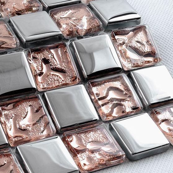 Mosaïque de verre feuilles carreaux d'argent brillant dosseret de cuisine salle de bains carrelage piscine cheminée carreaux échantillons gratuitement mosaïques de verre dans Mosaïque de Amélioration de l'habitat sur AliExpress.com | Alibaba Group