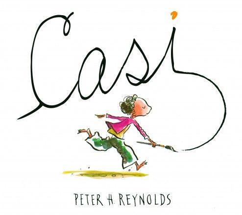 """Peter H. Reynolds. """"Casi / Quasi"""". Editorial Serres (3 a 8 años). Una cosa es la realidad y otra es el arte, aunque haya personas que intenten que la realidad sea el arte, como este niño, que gracias a su hermana acaba comprendiendo el auténtico sentido del arte. Està també en català."""
