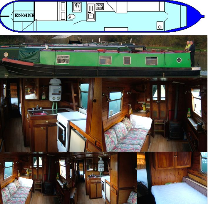 CAMELOT 1973 43FT TRAD- SOLD www.calcuttboats.com