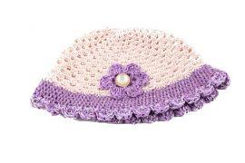 Crochet Cap Handmade - Lilac