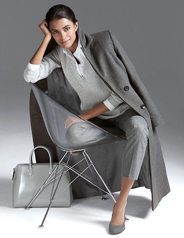 Coat, pure cashmere | Madeleine Fashion
