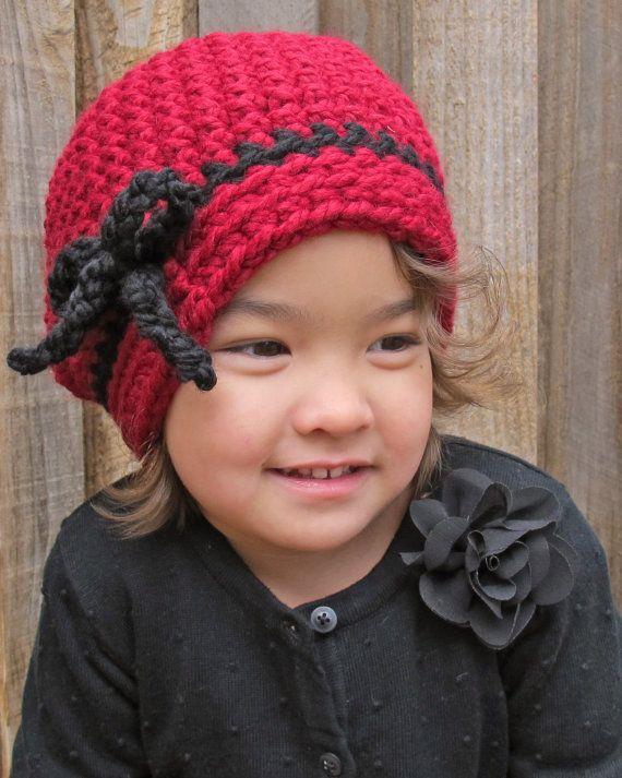 CROCHET patrón - va en alguna parte - slouchy sombrero con lazo en 3 tamaños (Infante, niño, adulto) - Instant PDF Descargar