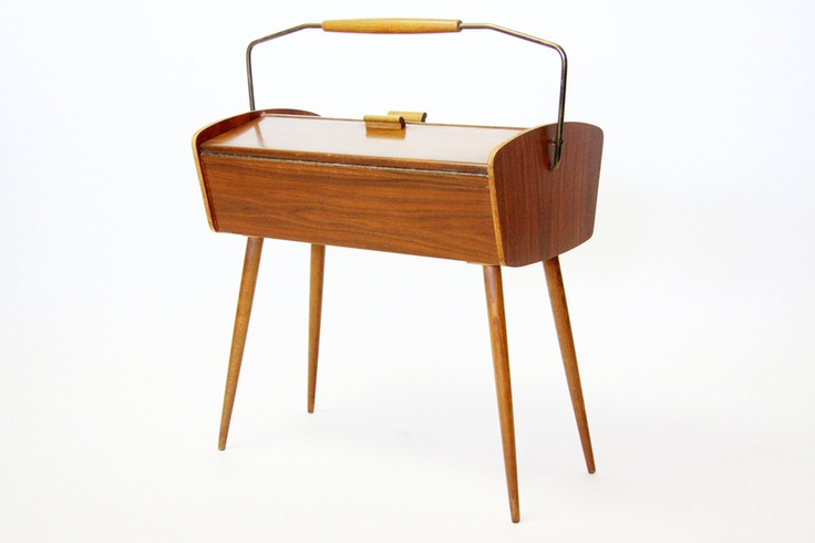 Midcentury sewing box
