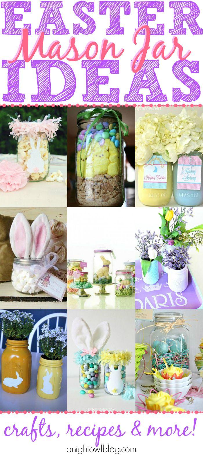 Easter mason jar ideas jars jars decor and easter decor for Mason jar easter ideas