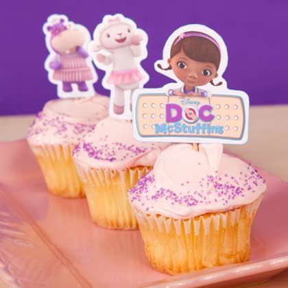 {free} printable Doc McStuffins Cupcake Toppers | Printables | Spoonful