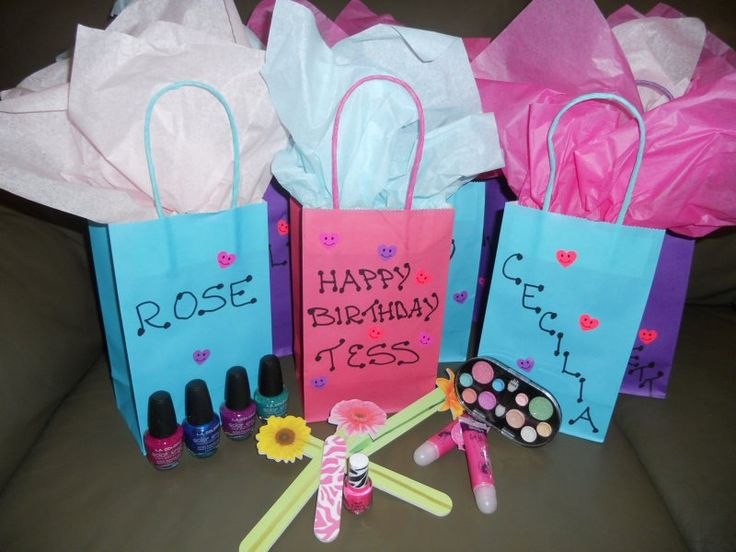 10 Year Old Spa Party Favor Bags Nail Polish Nail FilesMake Up Etc Favors By DM Events
