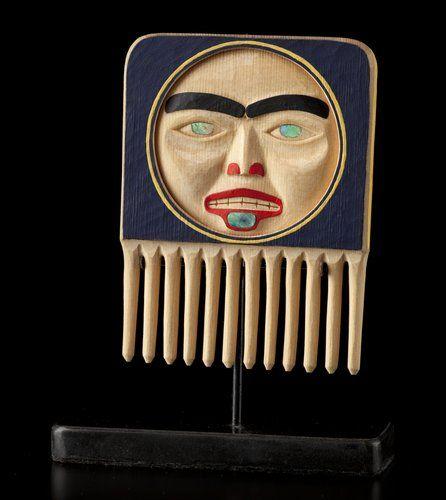 Woman in Moon Comb by Jay Simeon, Haida, Blackfoot artist (W120402)
